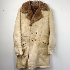Cosa Nova Genuine shearling fur peacoat